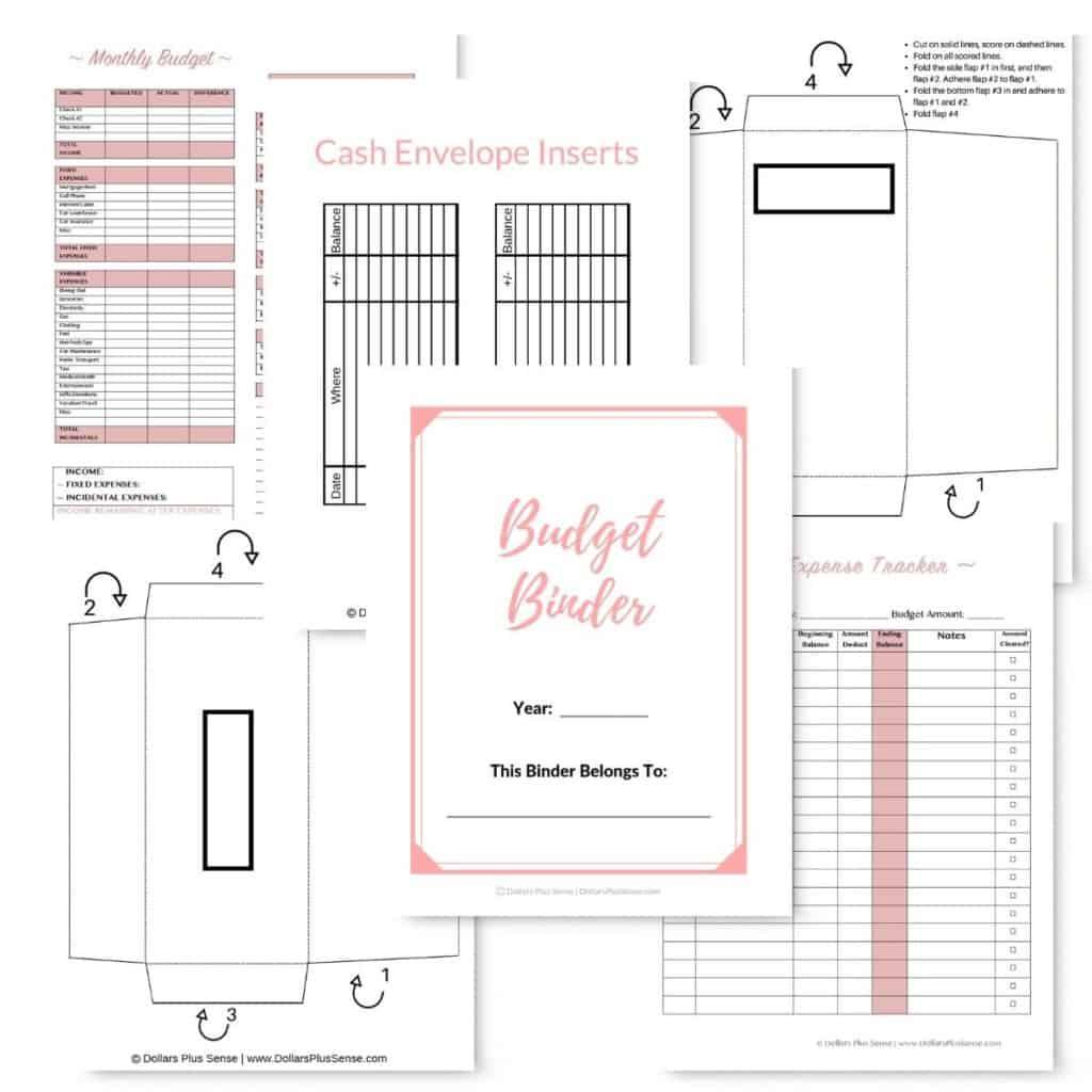 free budget binder template