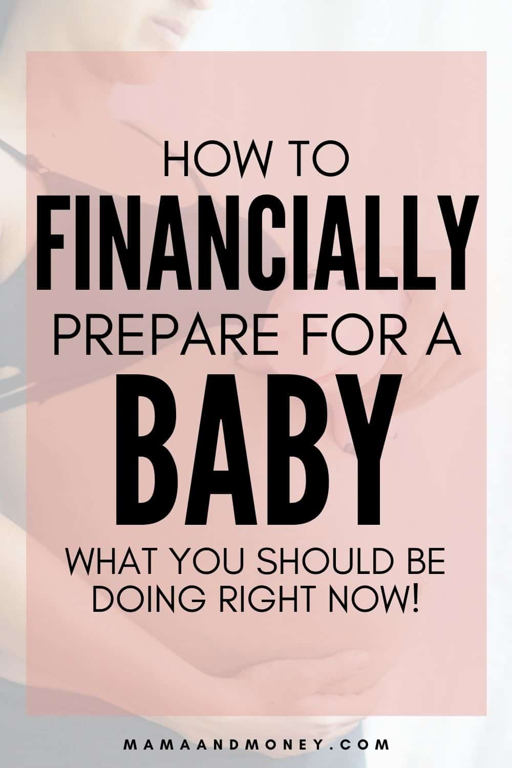 financially prepare for baby