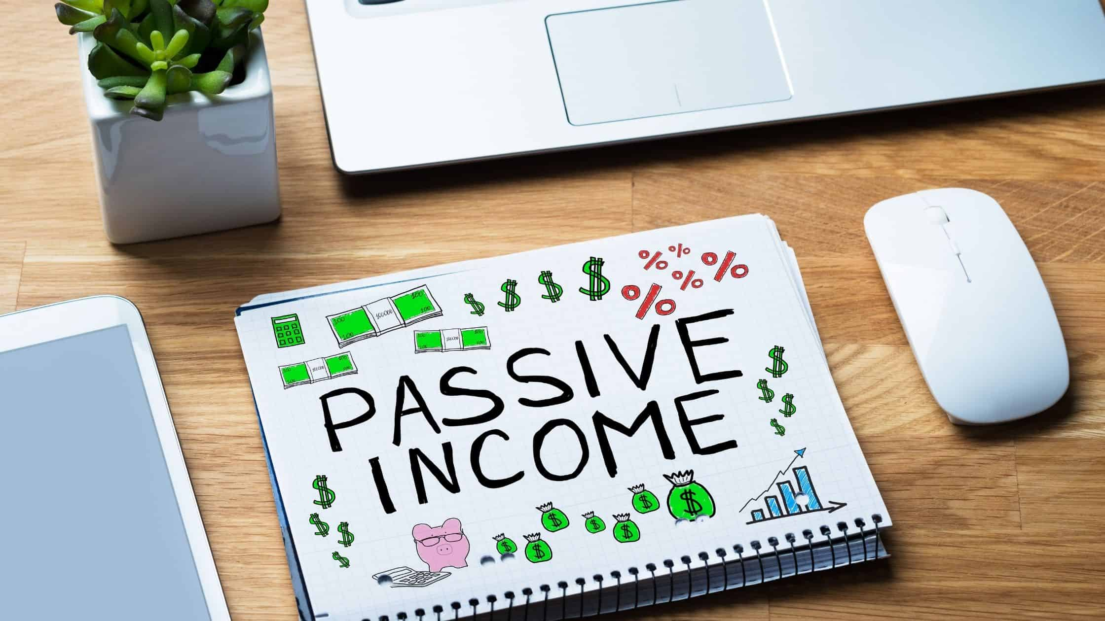 passive income written out on paper
